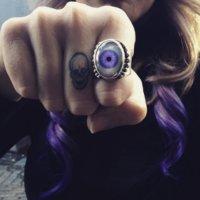 Beaded Eye Ring