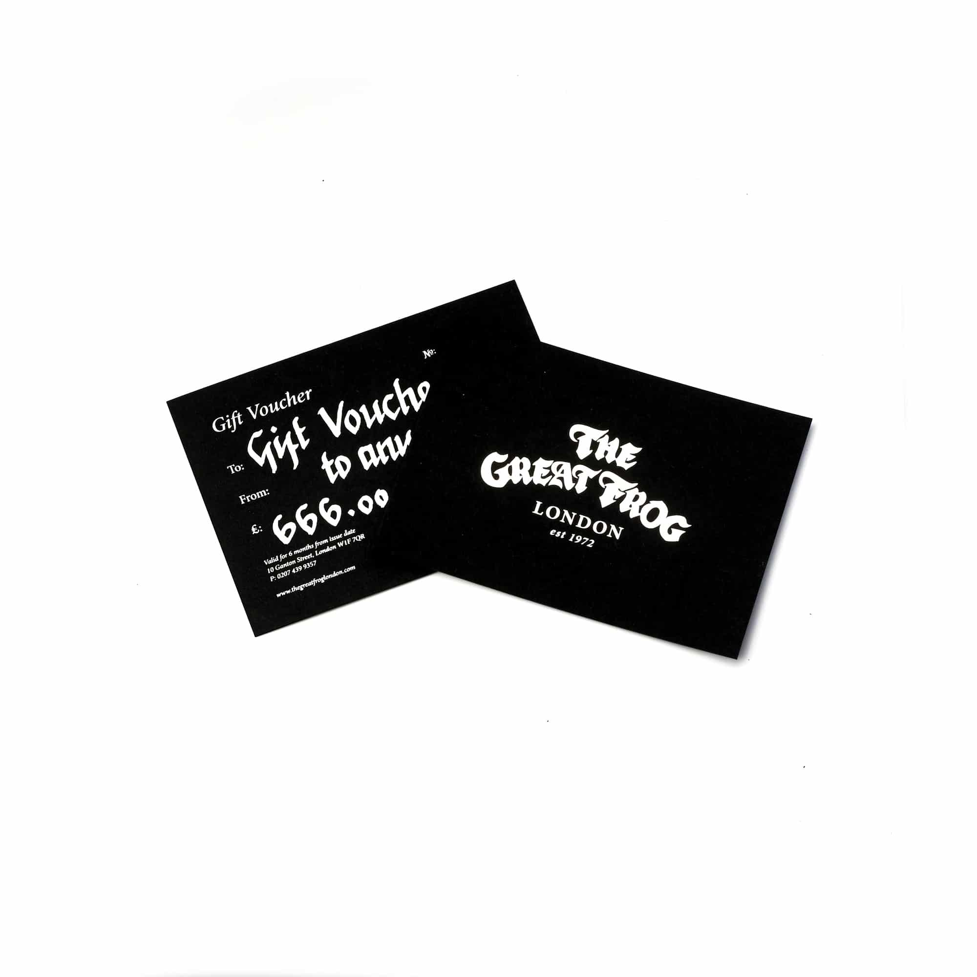 Tgf gift voucher the great frog tgf gift voucher negle Gallery