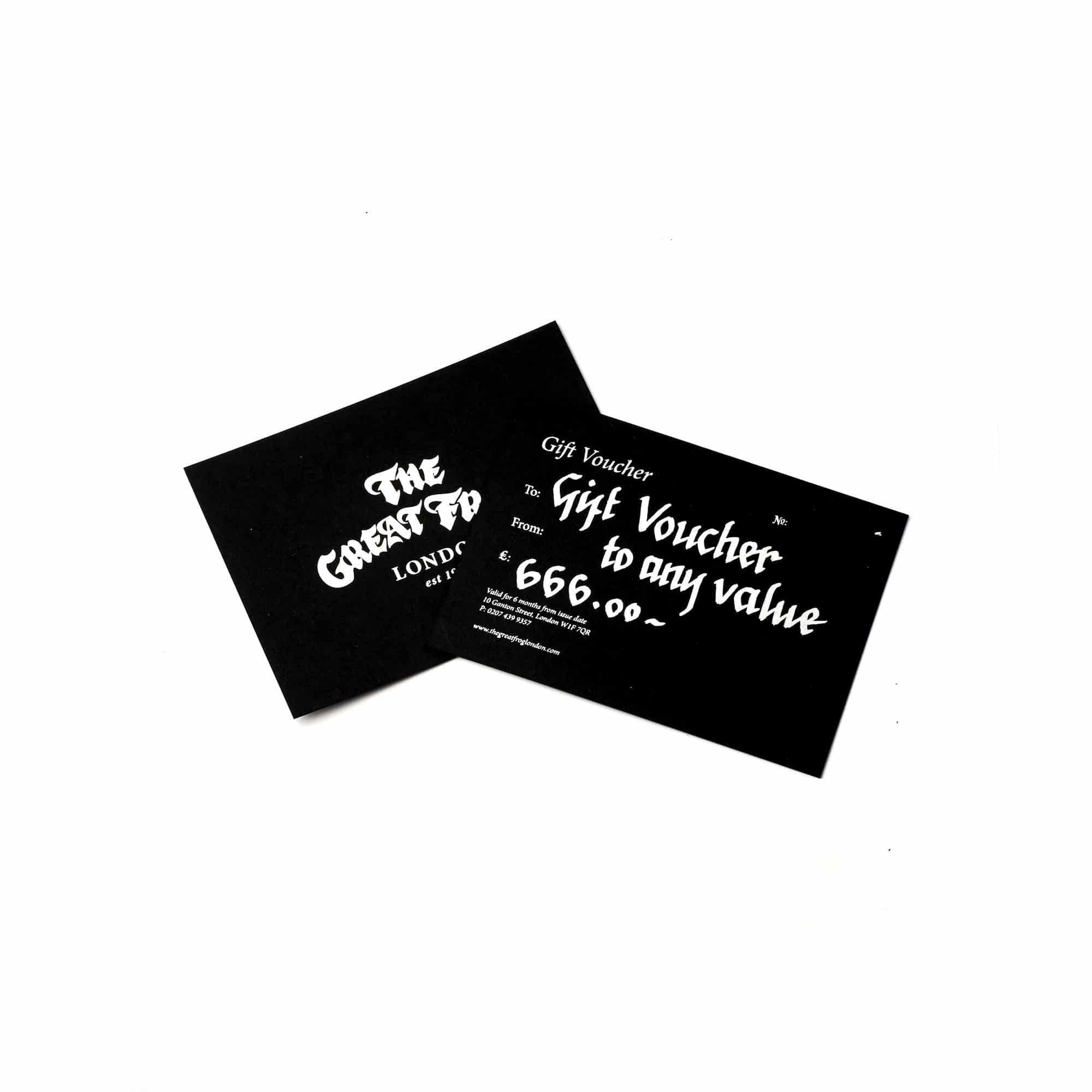Tgf gift voucher the great frog tgf gift voucher negle Images