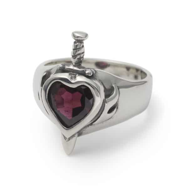 heart-with-dagger-gem-ring-garnet-angled