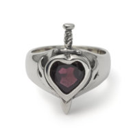 heart-with-dagger-gem-ring-garnet-front