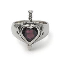 heart-with-dagger-gem-ring-garnet-front
