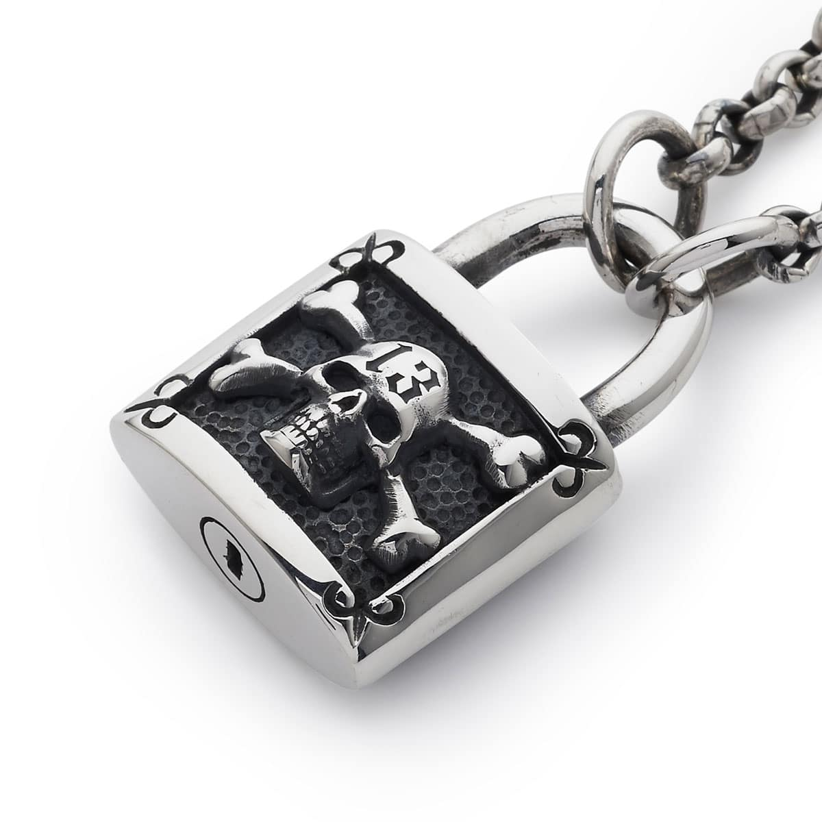 Large Padlock Pendant With Chain The Great Frog