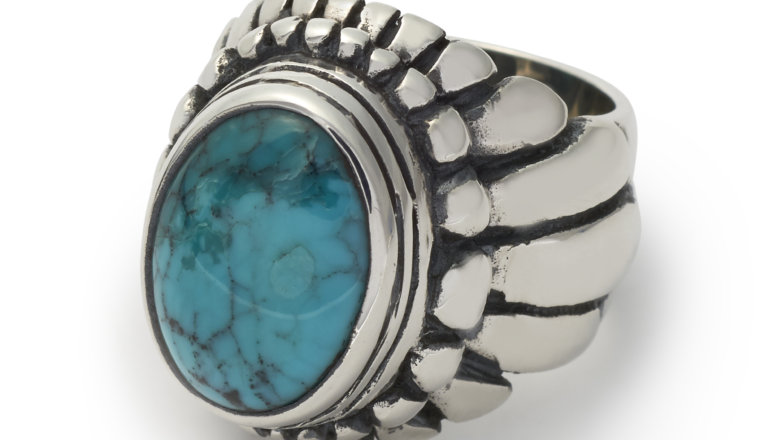 Frog Ring Turquoise