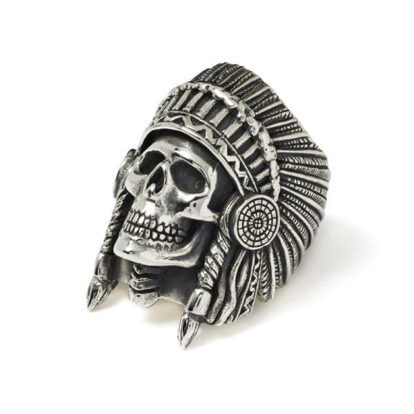 wes-lang-silver-plain-chief-skull-ring-angled