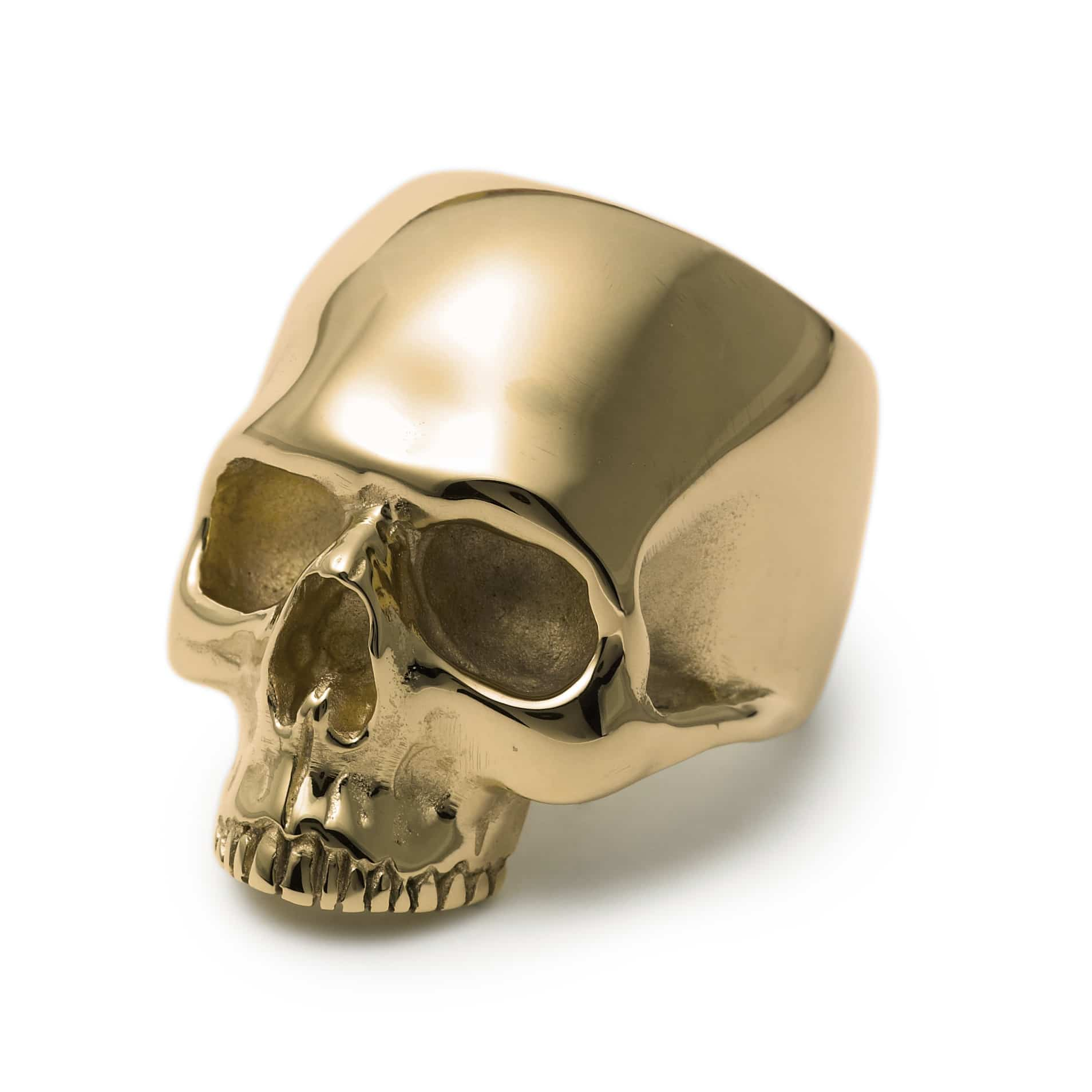 gold jawless anatomical skull ring the great frog