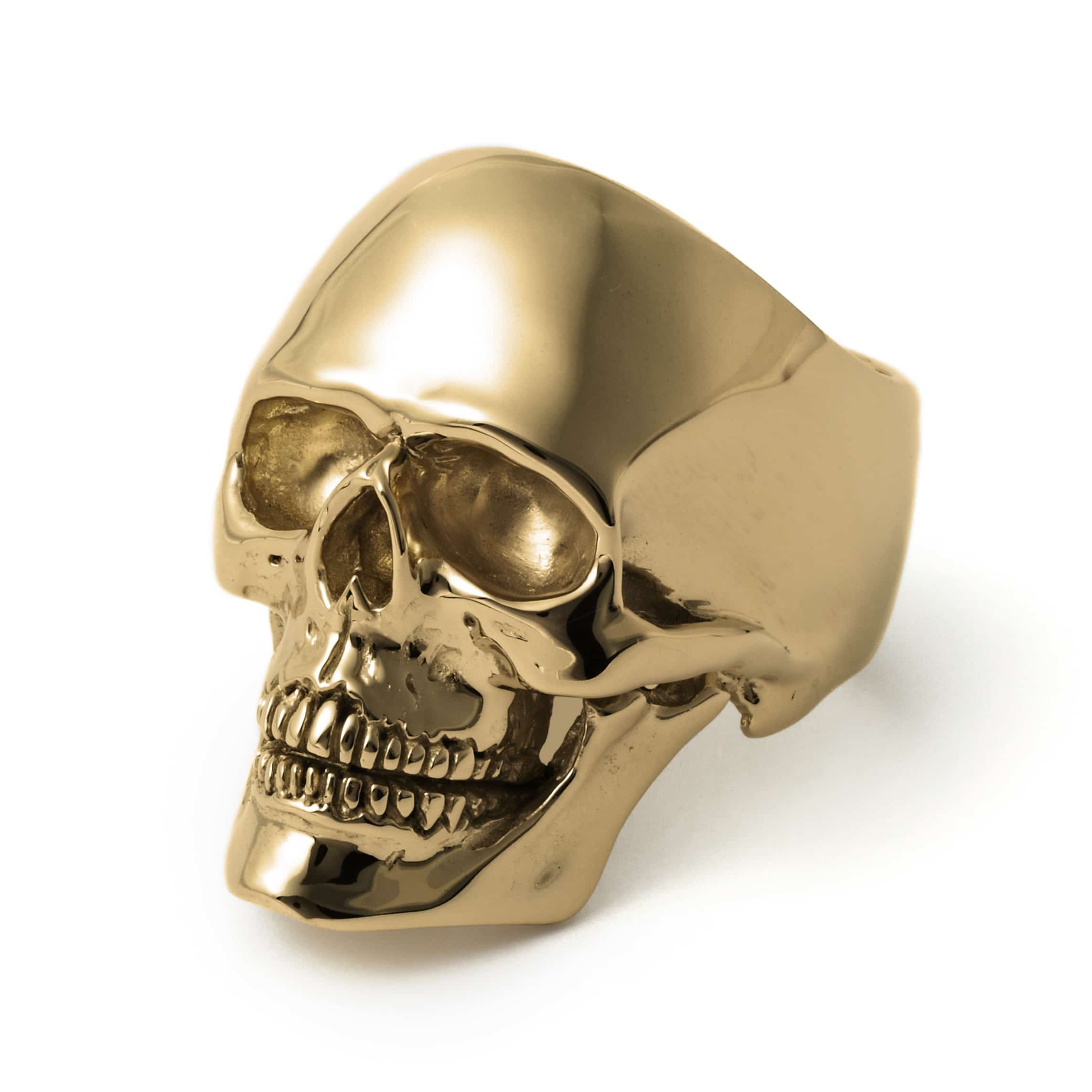 gold medium anatomical skull ring the great frog