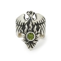 phoenix-ring-faceted-peridot-front