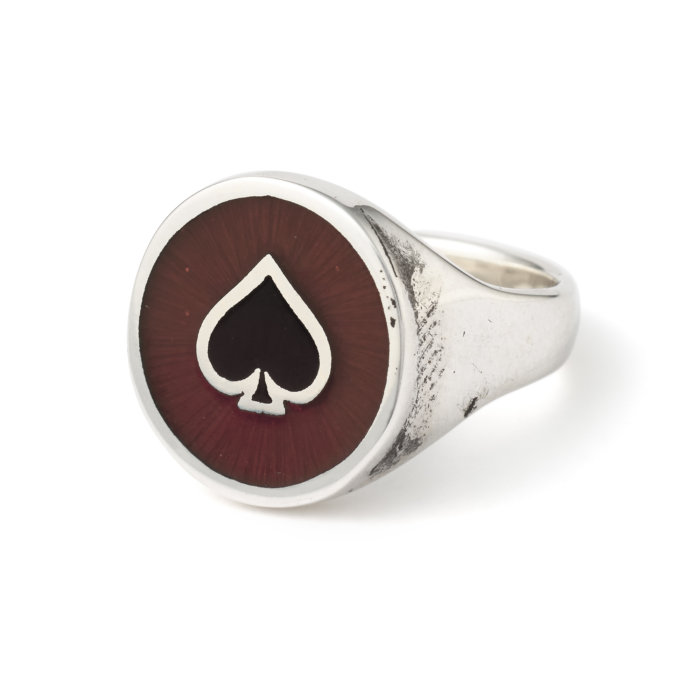 It's Back! The Round Ace with Enamel Ring