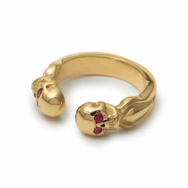 9ct-yellow-gold-double-headed-band-ruby-eyes-angled
