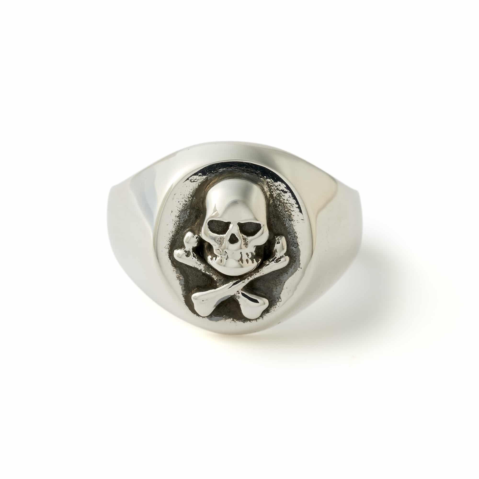 All Silver Skull & Crossbones Signet Ring – The Great Frog