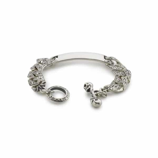 engraved-plain-id-bracelet front
