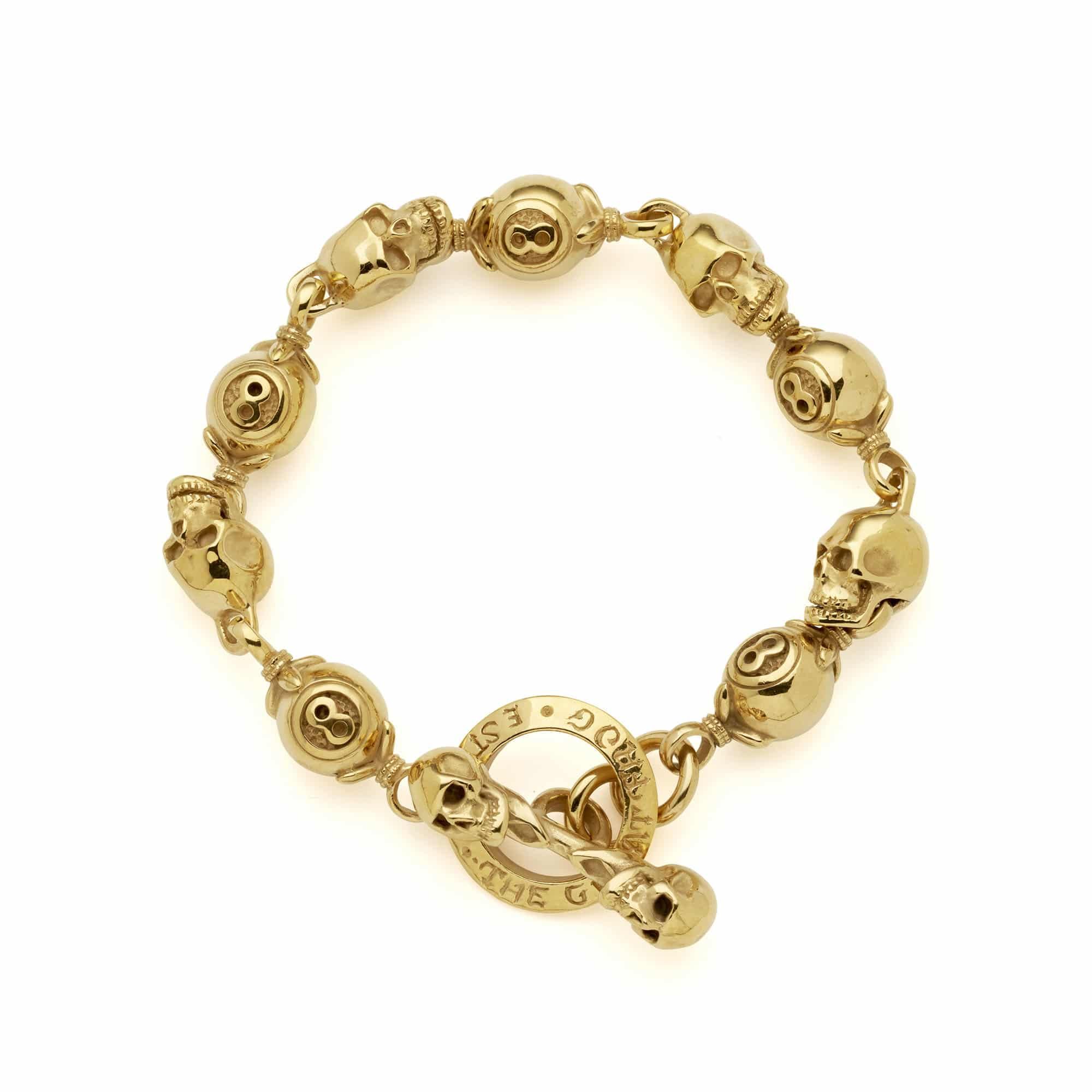 9ct Gold Skull & 8 Ball Bracelet – The Great Frog