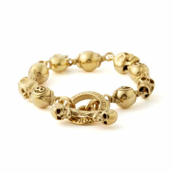 gold-skull-and-8ball-bracelet-front