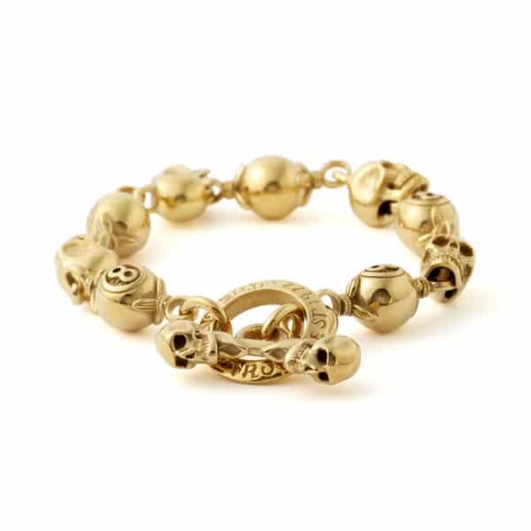 gold-skull-and-8ball-bracelet-front