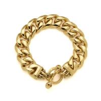 gold-thick-link-bracelet-above