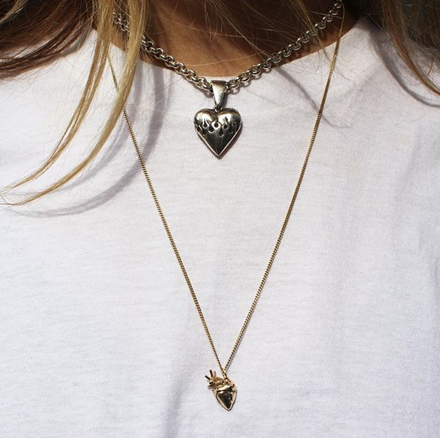 Small 9ct Yellow Gold Anatomical Heart Necklace The Great Frog