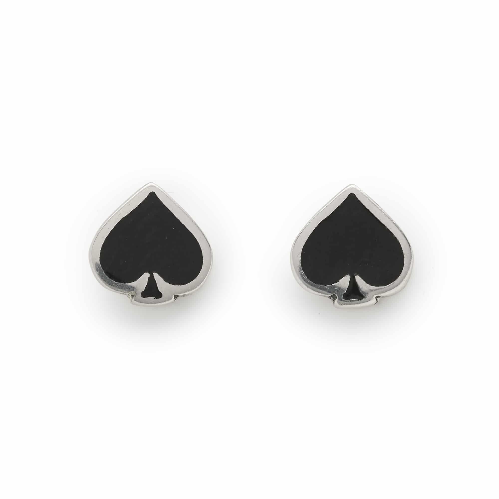 Sterling Silver Ace of Spades Stud Earrings G3hCHNBX