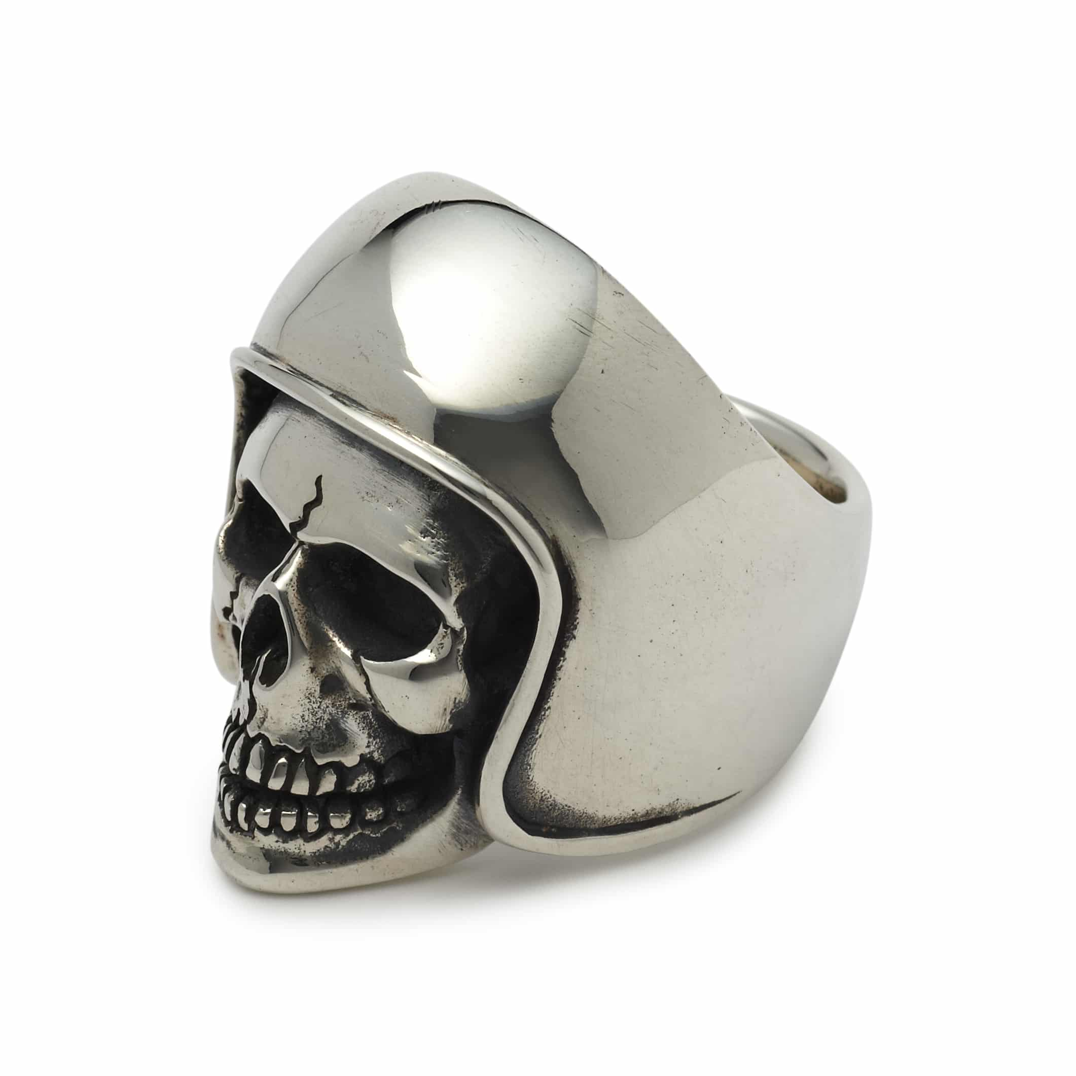 Biker skull ring the great frog for Frog london