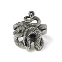 coiled-snake-ring-front