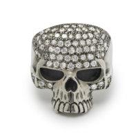 cz-white-skull-ring-front