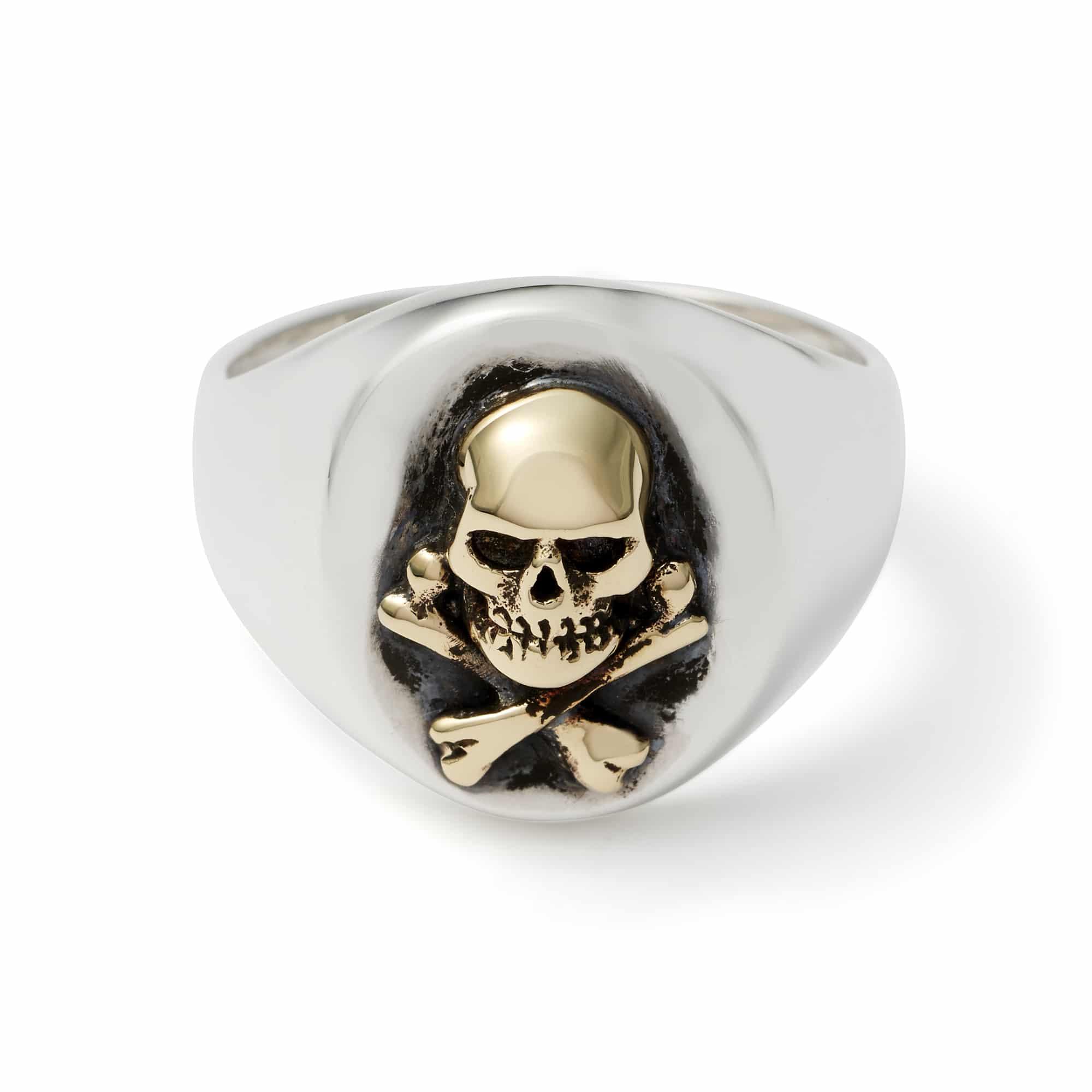 Gold Skull Amp Crossbones Signet Ring The Great Frog
