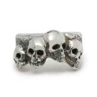 large-four-skull-ring-front