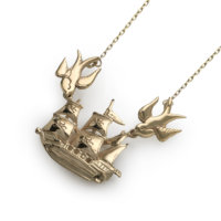 ship-and-swallows-gold-pendant-angled