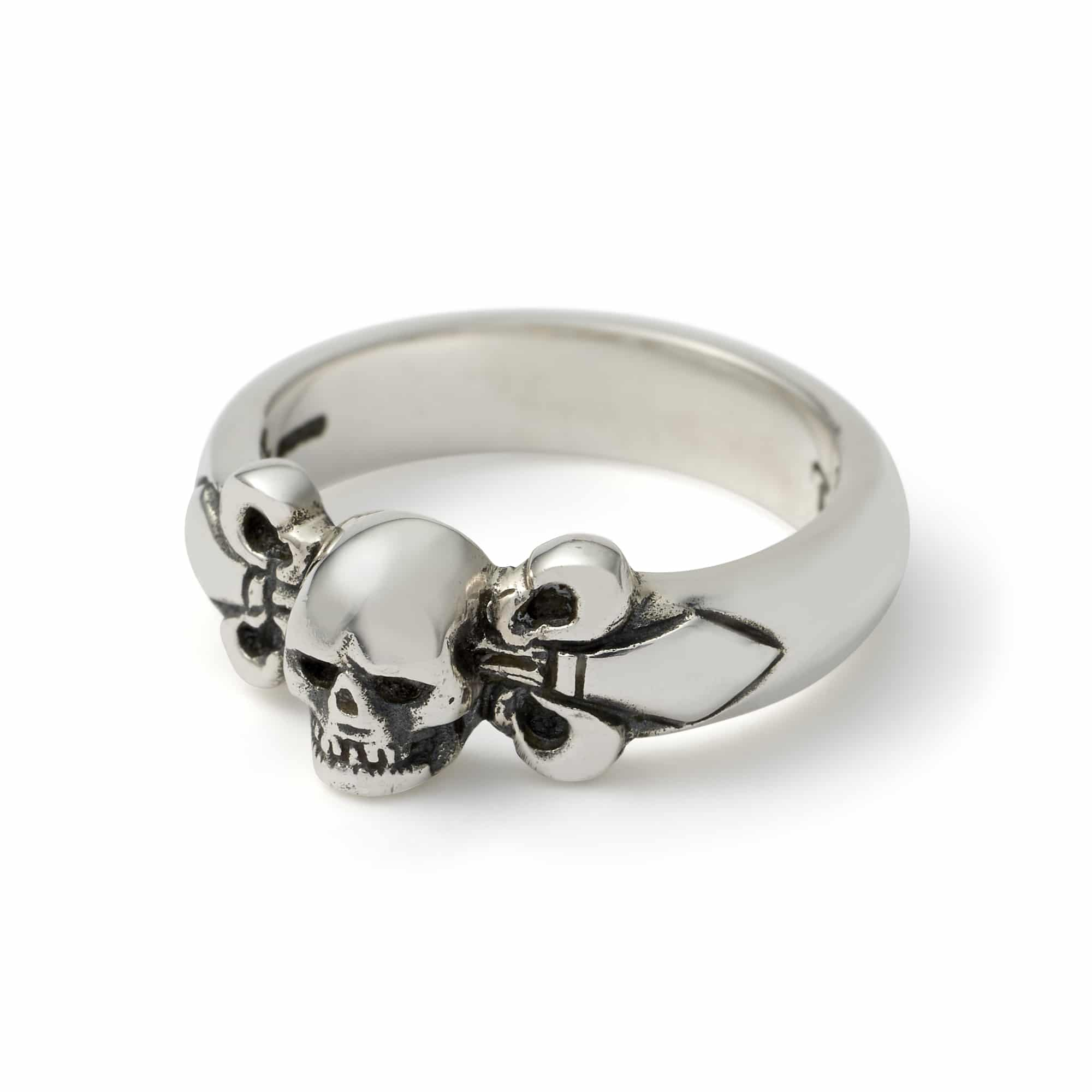 skull with fleur de lis ring the great frog